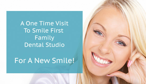 A picture of a Cerec Promo - A One Time Visit to Smile First Family Dental Studio For A New Smile